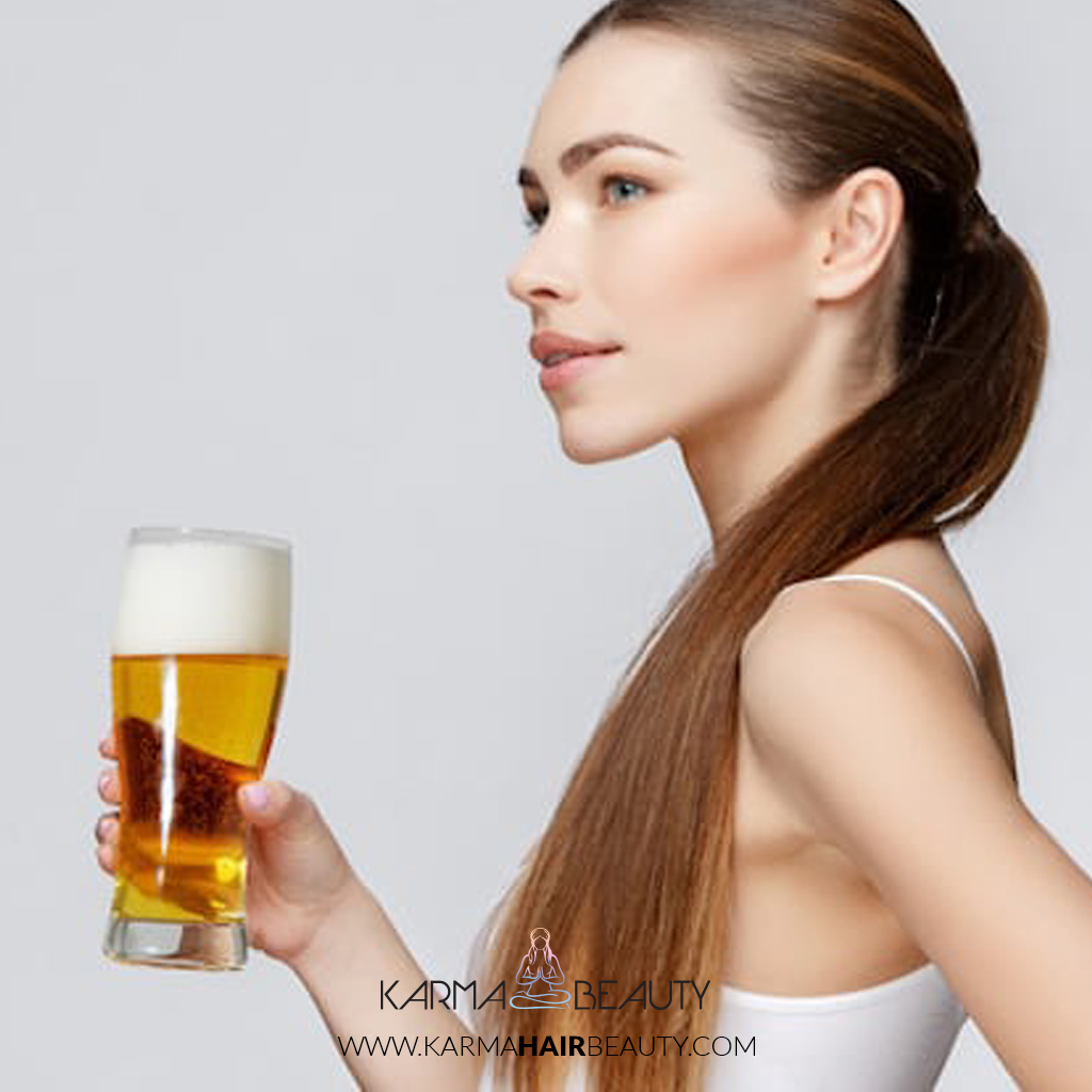 To add #shine and #bounce instantly give your #hair a final rinse with #beer. The properties in beer will add an instant shine to your otherwise dull and limp hair.   #hairhacks #hairtips #beerhairmask #karmabeauty #karmahairbeautypic.twitter.com/3XIDDZUAY7