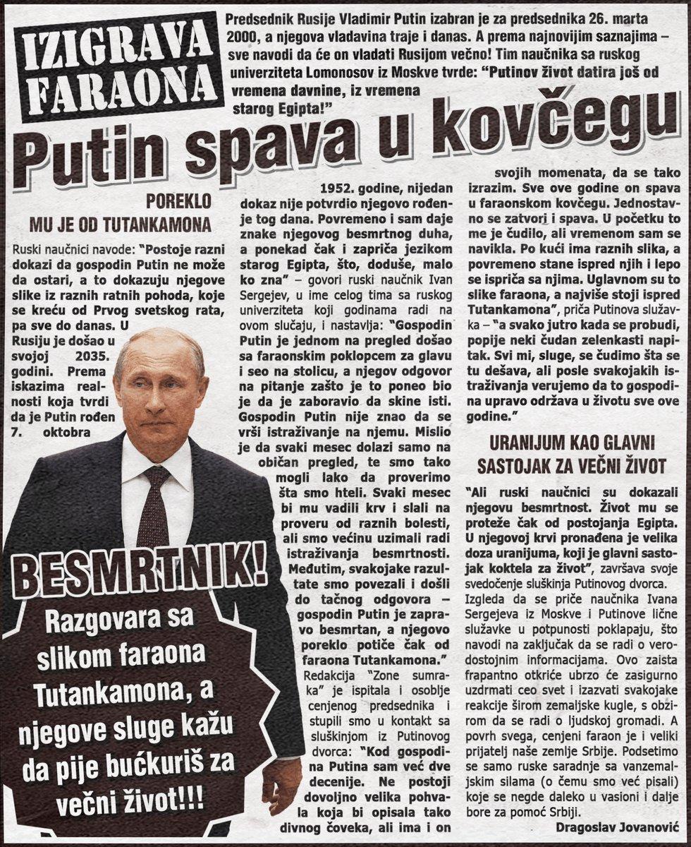 Putin izigrava faraona i spava u kovčegu