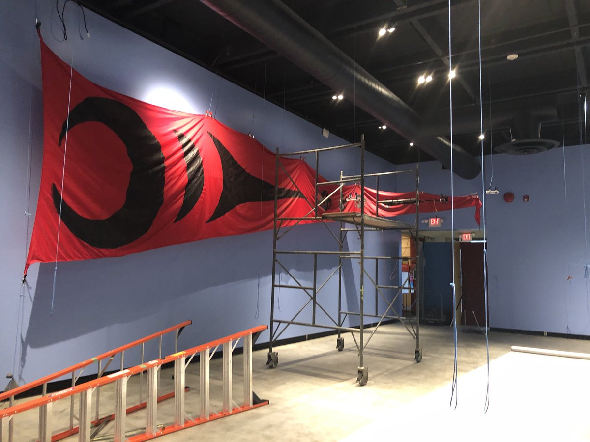 Excited to see the first @GreenpeaceCA banner up for Acts of Resistance exhibit @museumofvan opening next week! #IndigenousActivism pic.twitter.com/4ya998Bt1g