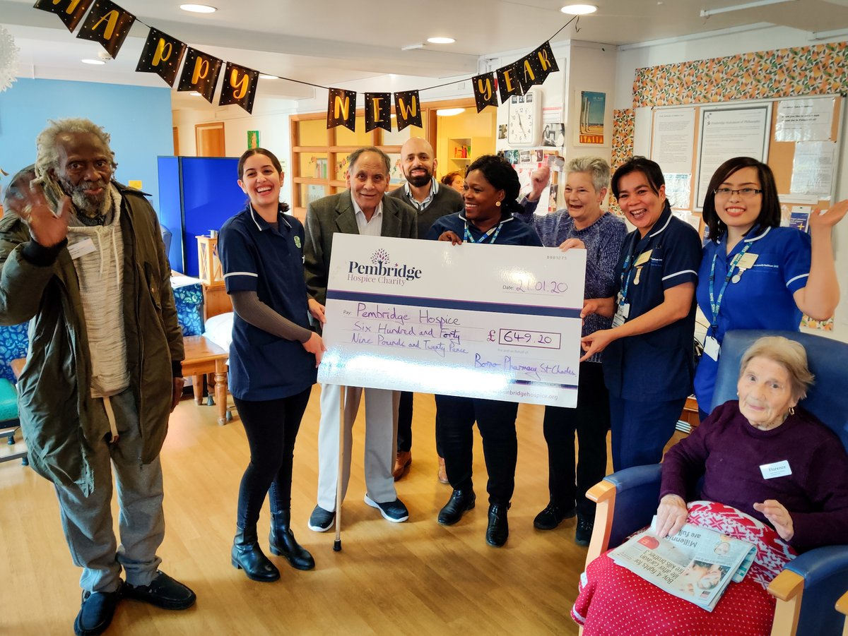 Leyla, Mohammed and Gemma from @BornoPharmacy St Charles recently visited to donate the proceeds from their December fundraising. Look how happy the nurses and patients were to see them! 10p for every item dispensed in December added up to a whopping £642.90. Thank you x