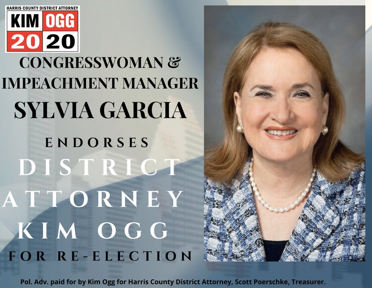 Thank you Congresswoman for your endorsement! We are all so proud of your representation!