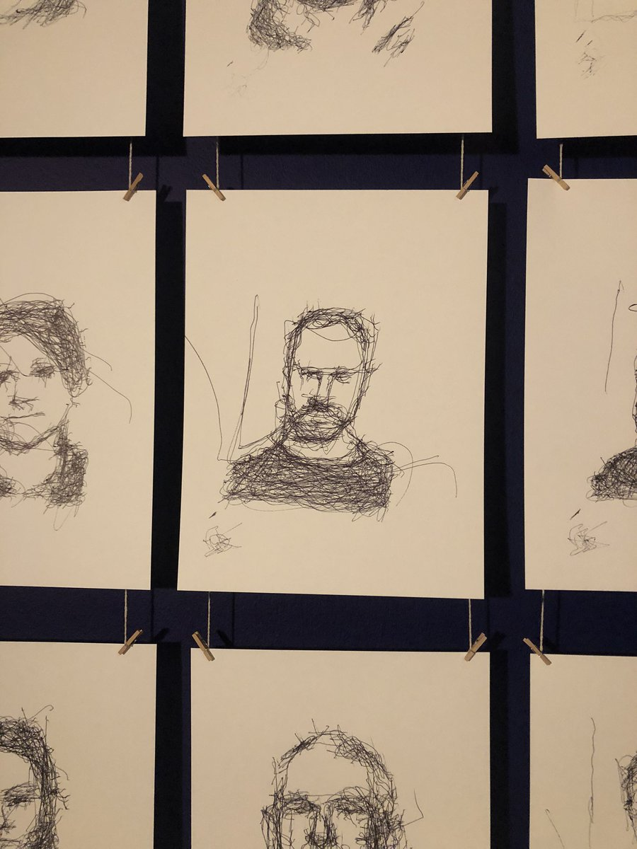 Just had portrait done and now it's hanging in @The_Lowry