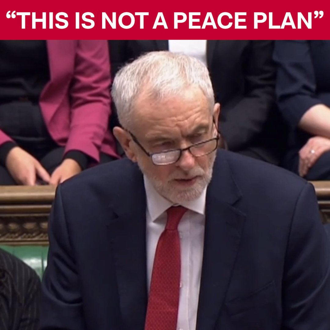 The British government must stand for a genuine, internationally-backed peace plan. #PMQs