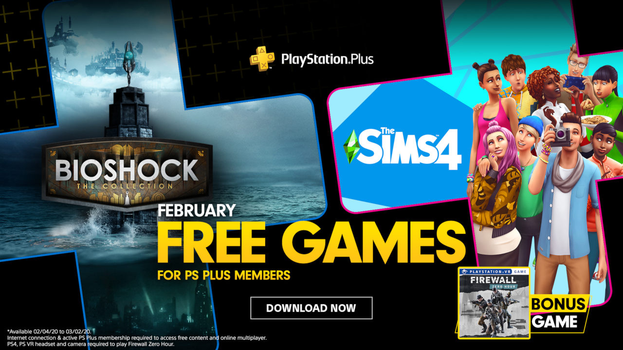PS Plus Free Games February 2020