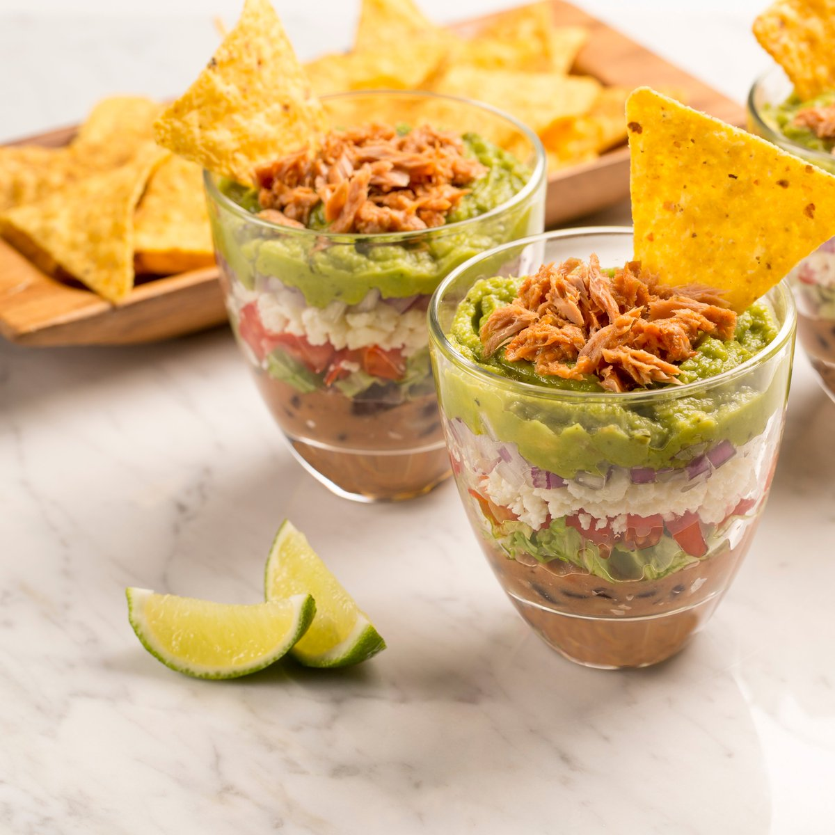 ❆ Always layer up in the winter. ❆ #WednesdayWisdom Spicy 7-Layer Dip Cups for #BigGame → bit.ly/7LayerDipCups