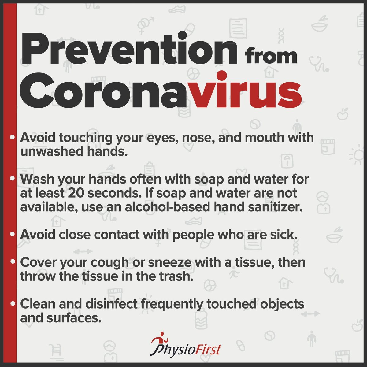 While coronavirus comes with harmful effects, some basic changes in your daily life can safeguard you and your family!   #prevention #disease #coronavirus #virus #health #healthy #life #body #lifestyle #exercise #physiotherapy #therapy #facts #corona #illness #medical