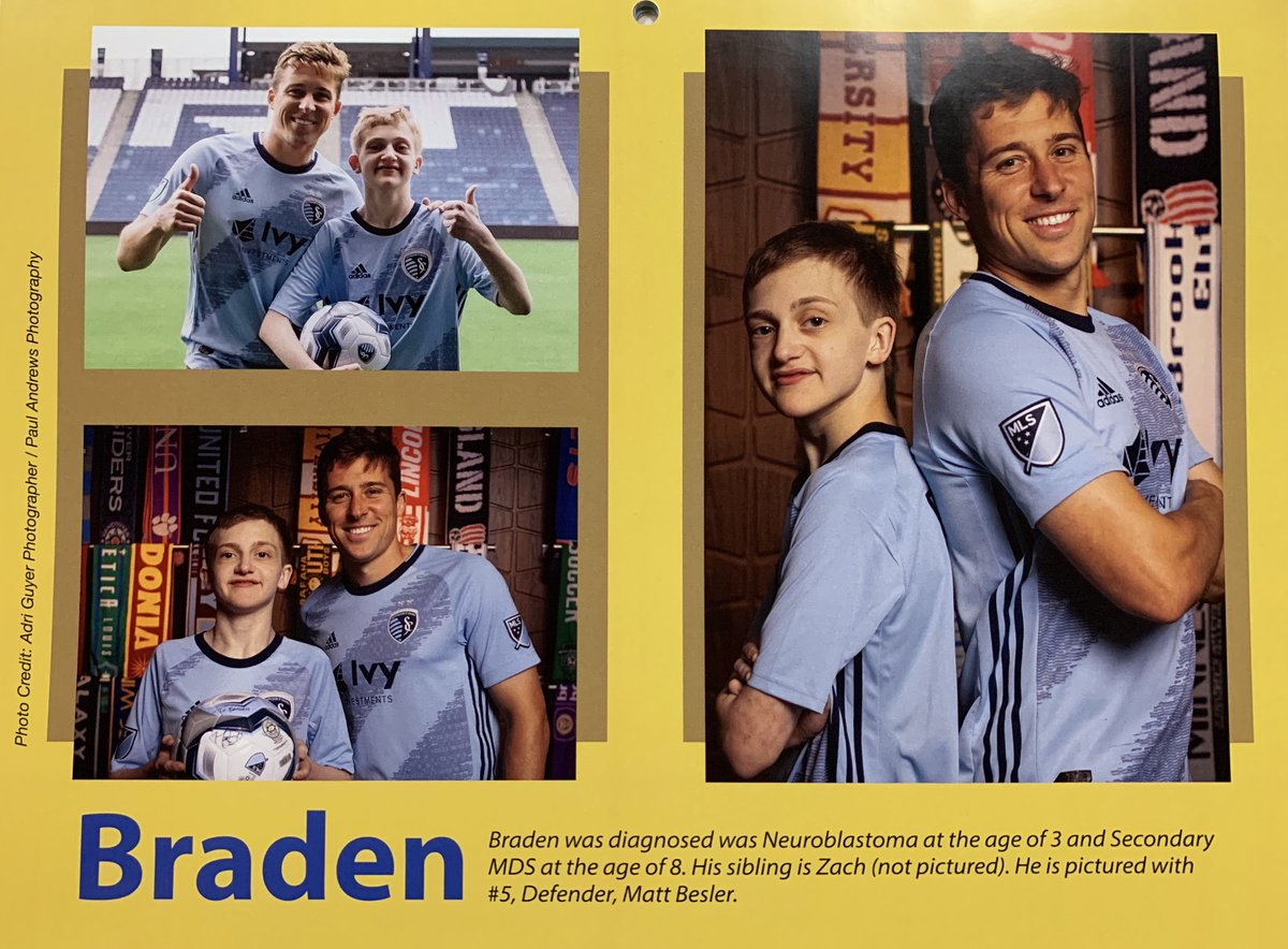 We're starting September with #TVPHonoree Braden and @SportingKC Defender, @MattBesler! They can be found in this month's page in the @Bradenshope calendar!   There is no better duo around! https://t.co/E2JzLgELpm