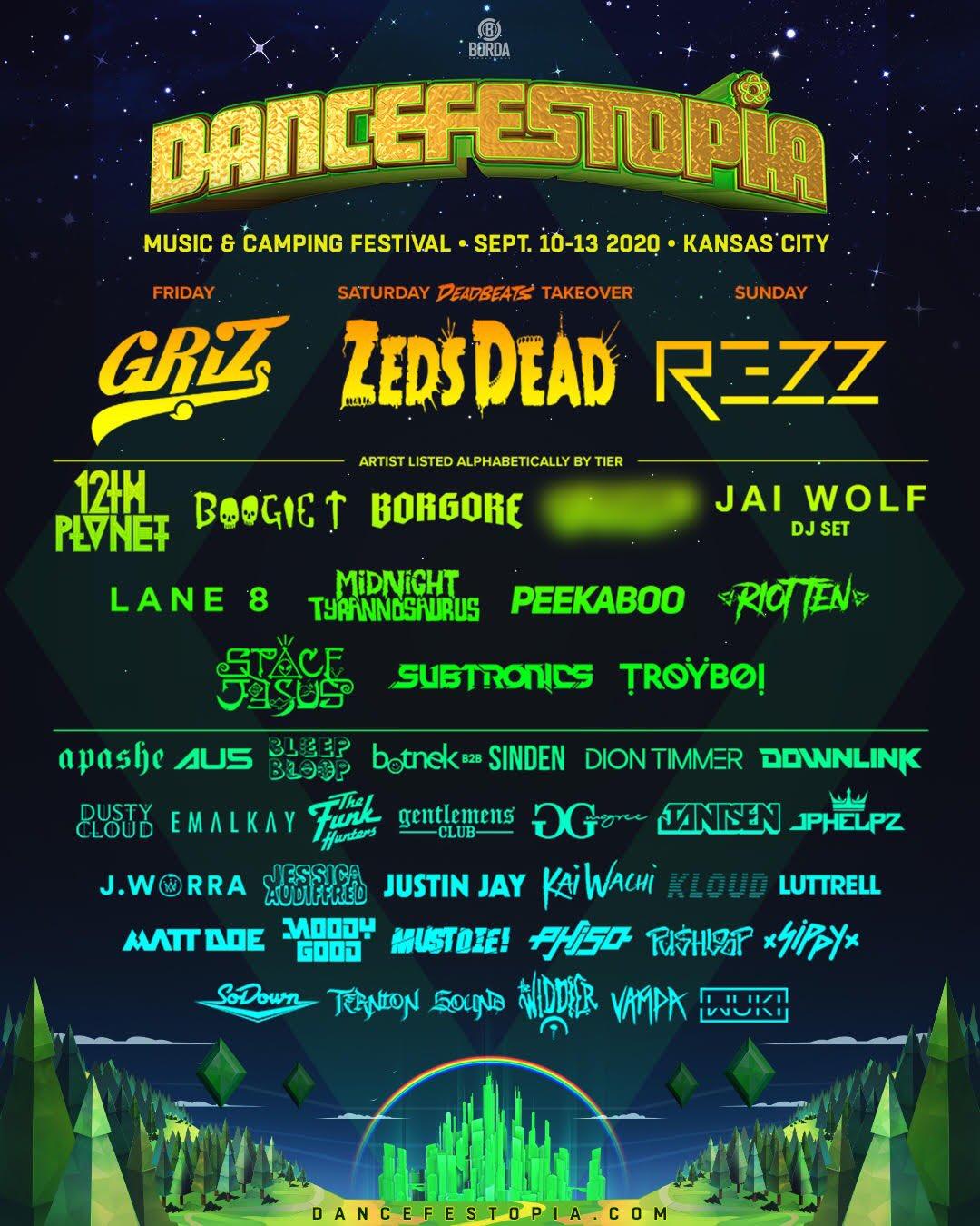 Dancefestopia lineup 2020