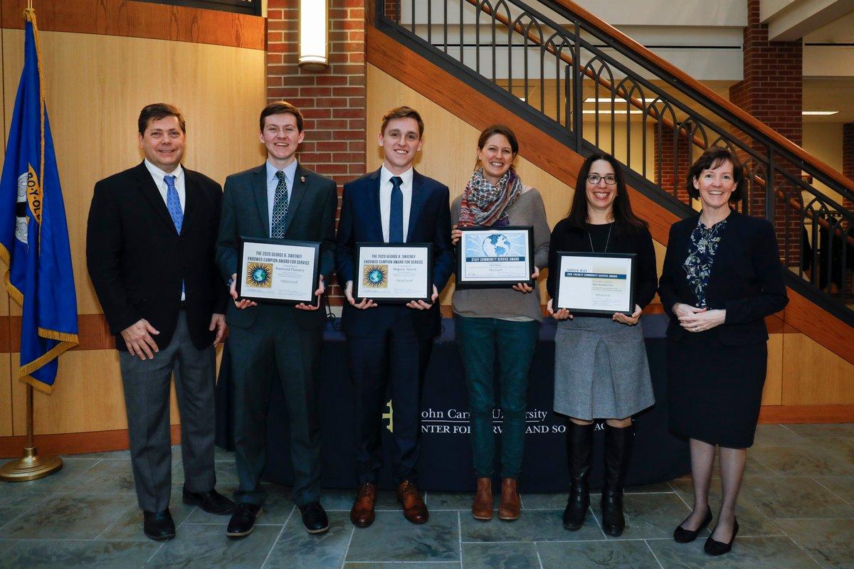 Congratulations to the 2020 Celebration of Service Award winners! jcu.edu/news-center/jc… #IgnatianHeritageWeek