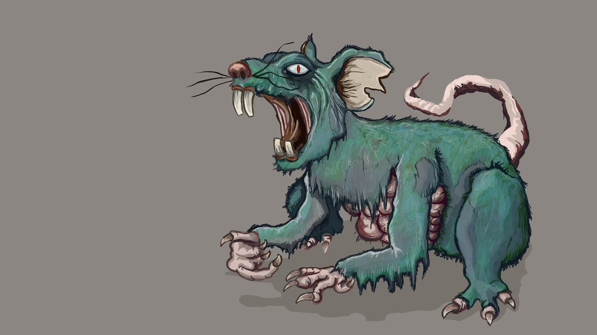Happy Year of the Rat!  #YearoftheRat #newyear #ChineseNewYear  #rat #zombie #zombies #gaming #gamedev #indiegaming #indiegames #art #digitalart #undead #painting #pcgames #videogames #indiedev