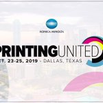 Image for the Tweet beginning: At #PRINTINGUnited, @KonicaMinoltaUS launched the