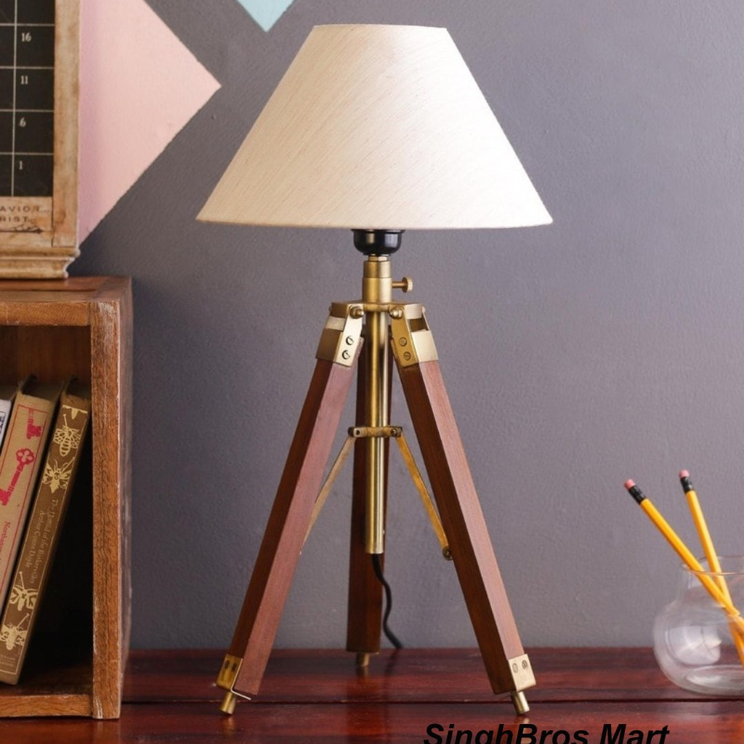 Get this Decorative Antique Natural Brown Tripod Stand & Floor Lamp... Shop Now:  #antique #home #decoration #ideas #interior #wood #lamp #design #decorative #collection #love #best #online #UnitedStates