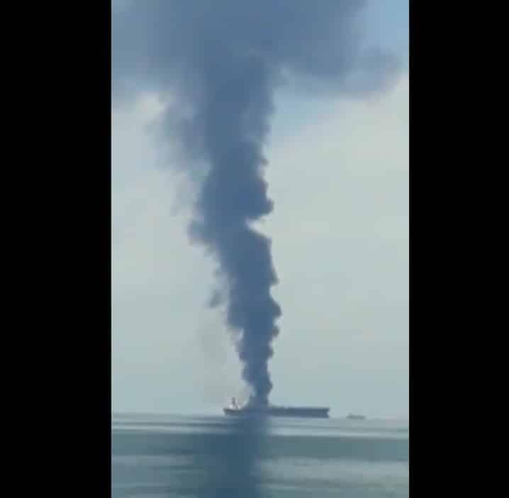 Пожар на танкере Zoya 1