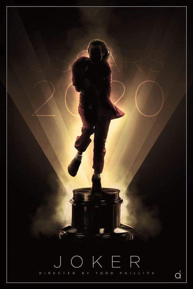 @jokermovie libera su poster final de cara a la campaña de los #Oscars2020. Esperando con ansia el poster de Endgame pic.twitter.com/ReF643FeHL