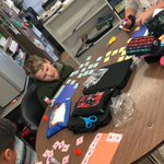 Image for the Tweet beginning: Practicing our distributive property today
