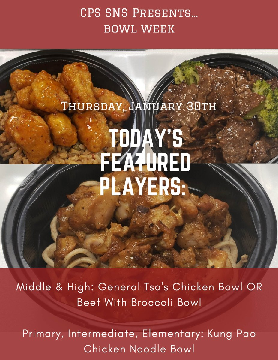 @CPS_SNS Bowl Week continues tomorrow with these great options from @CPS_SNS!