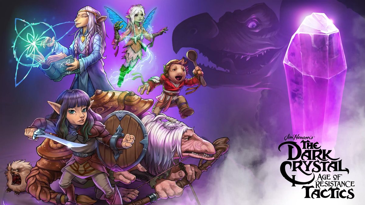 Enjoy the beautiful dark purple hues of #TheDarkCrystal for this #WallpaperWednesday!  At En Masse, we're all about the hype for February 4th and the release of @DCAORtactics! https://t.co/eGrpezDKCV