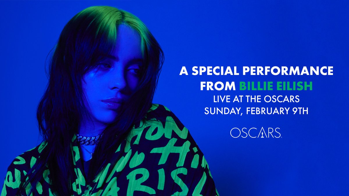 Watch a special performance by Billie on the 92nd #Oscars on Sunday, February 9. @theacademy @ABCNetwork