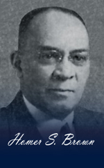 Today's #BHM feature is Homer Sylvester Brown. Don't know who he is? Head to facebook.com/senatorjaycosta to find out!