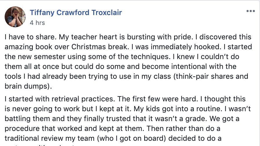 Read this from our #PowerfulTeaching Facebook group. My teacher heart is bursting with pride, too.