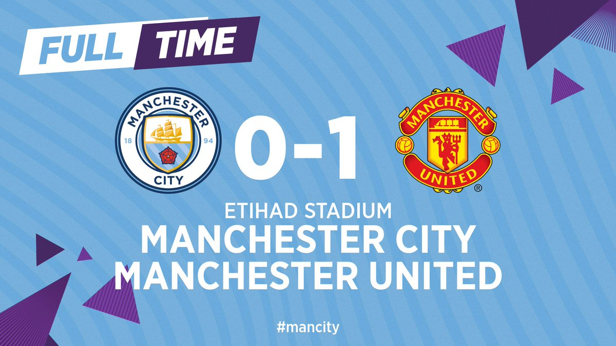 Manchester City 0-1 Manchester United, 30/01/2020