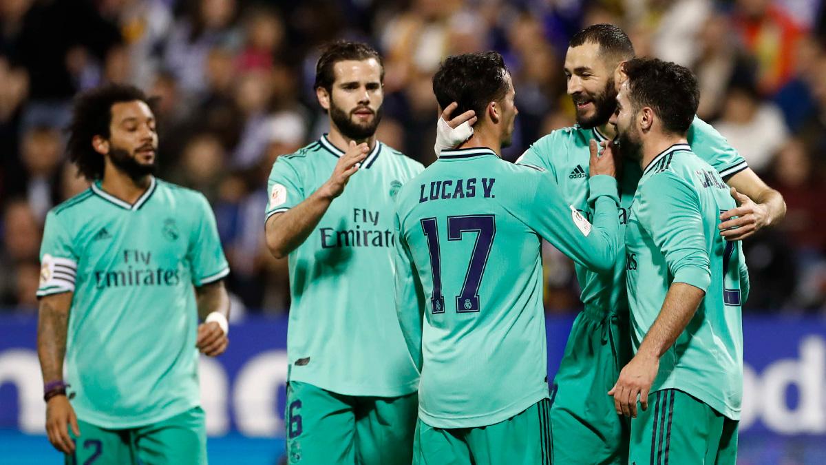 👏⚽ ¡@Benzema no faltó a su cita con el gol y puso la guinda a la goleada del equipo! #RMCopa   #HalaMadrid