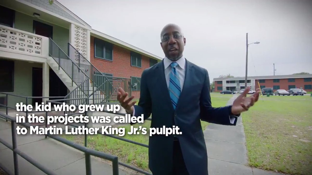 Good morning Georgia!  I'm Raphael Warnock. I grew up in public housing in Savannah and went to college at @Morehouse where I was the first in my family to graduate college.  And I'm running to be Georgia's next U.S. Senator.