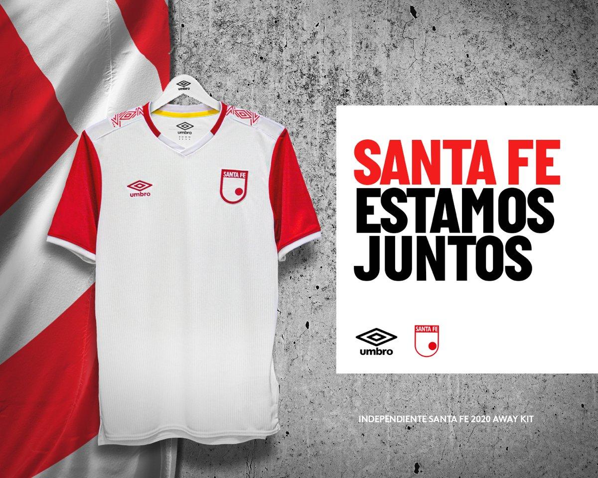 Presentamos la nueva camiseta de Independiente Santa Fe en su versión de visitante para la temporada 2020. . . . #Umbro #IndependienteSantaFe #UmbroColombia #camisetas #camisetasdefutbol #futbol #futbolcolombiano https://t.co/EN0aTWMIXQ