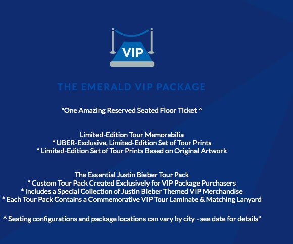 The Emerald Vip Package For Justin