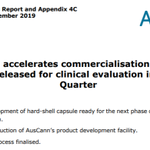 Image for the Tweet beginning: AusCann accelerates commercialisation path with