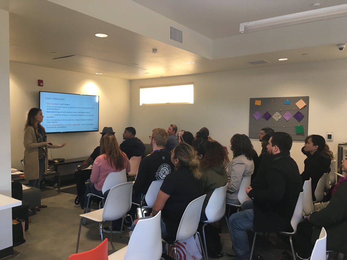 Today LA Family Housing staff attended multiple training sessions on how to house participants in a high cost market, harm reduction, and how to manage time when everything is a priority. @impactcapital @FocusStratCA