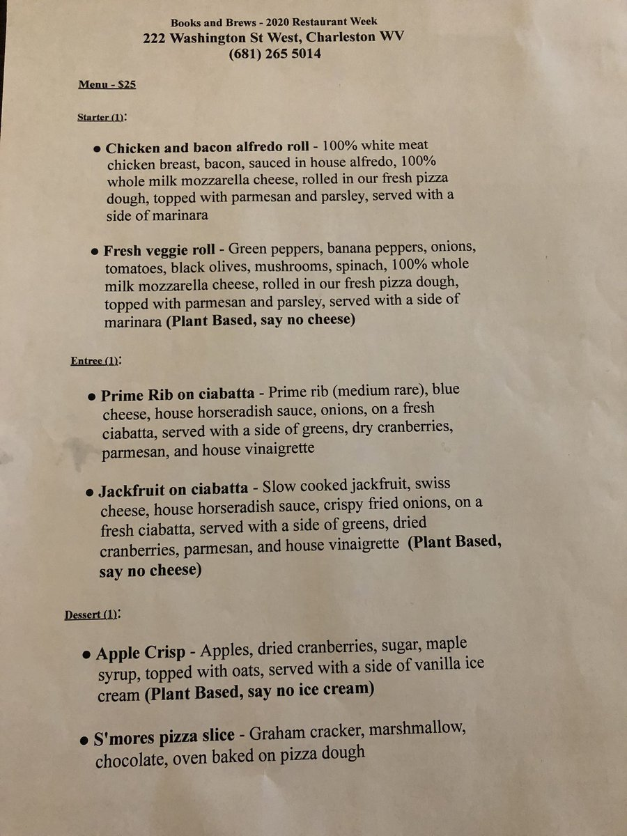 charleston wv restaurant week 2020