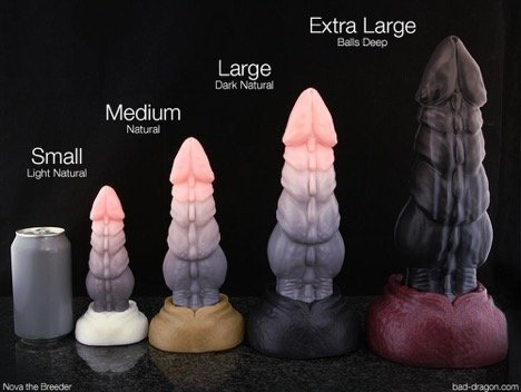 Large extra bad dragon Here's the