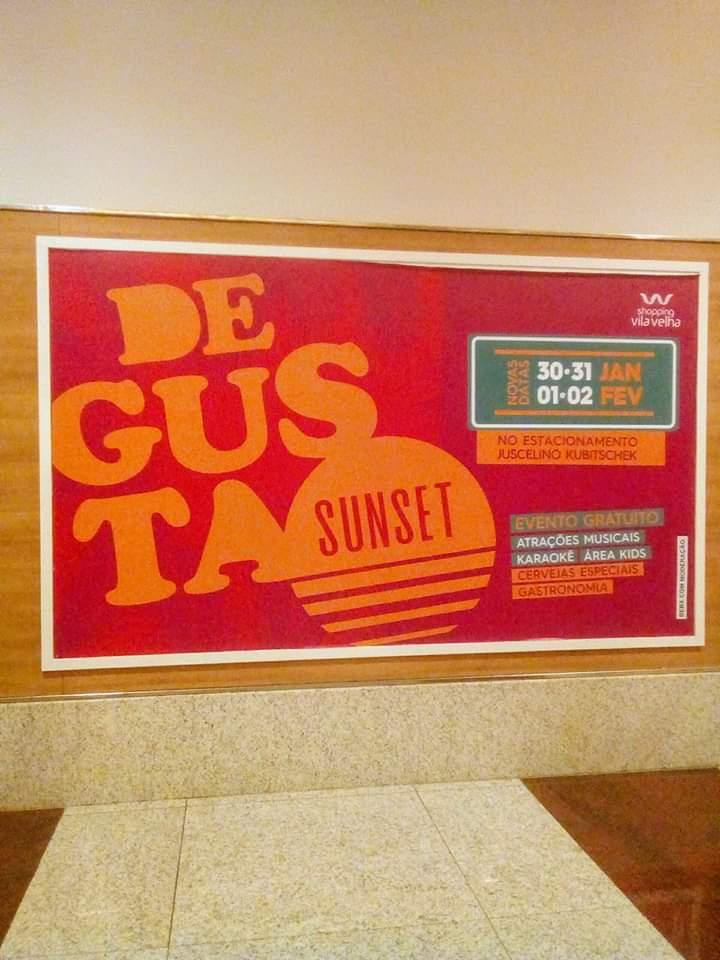 Depois do evento Degusta Sunset ser adiado por causa do chuva . Está de volta de quinta-feira a domingo #DegustaSunset  #ShoppingVilaVelha #VilaVelha #atraçõespic.twitter.com/oW93Lf11UQ