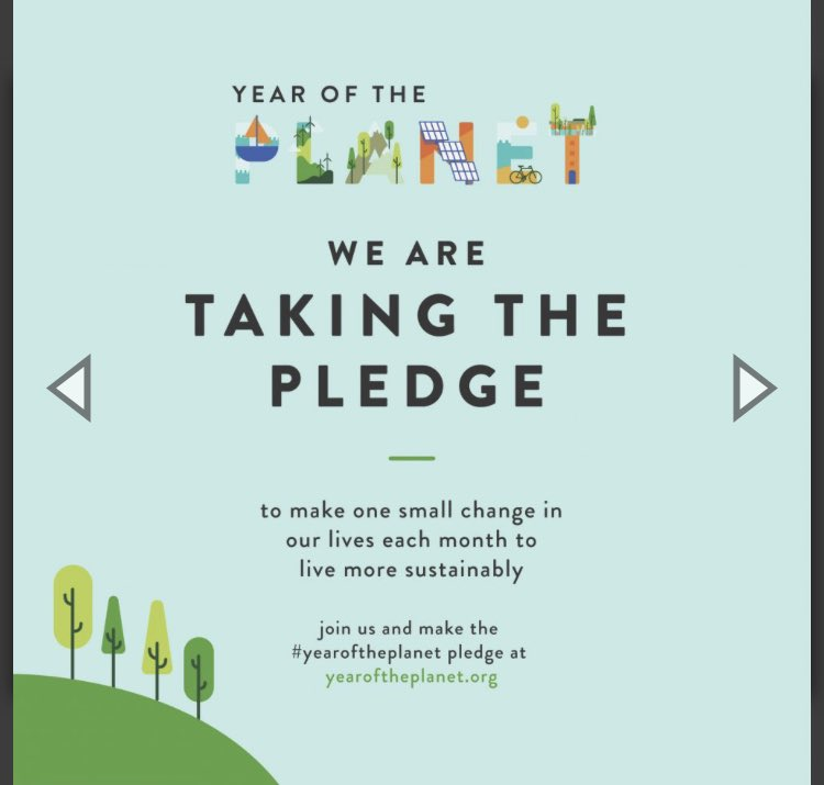 I'm taking a pledge to make one small change once a month to help the planet - join me! #yearOfThePlanet