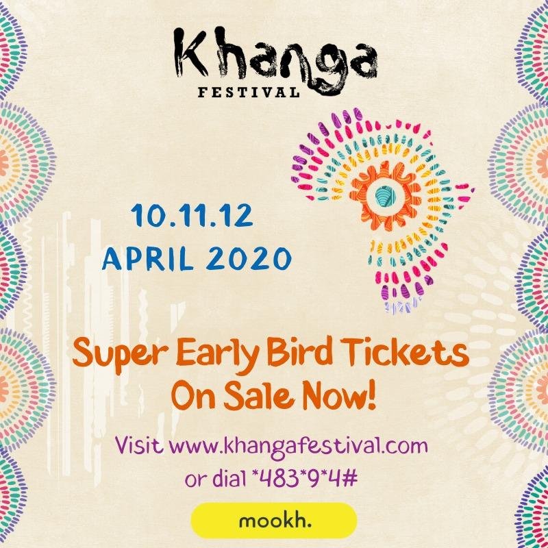 KHANGA FESTIVAL SUPER EARLY BIRD TICKETS ARE LIVE ON MOOKH!  🌞 Enjoy rib-cracking comedy and all your favorite music at #KhangaFestival. Get #KhangaFestival season pass at KSH 2700 from https://t.co/bmQopyadRM  or dial *483*9*4#  #BringBackTheKhanga #TwendeKilifi https://t.co/394Kv7yGMi