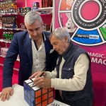 Image for the Tweet beginning: Mr Erno Rubik & ⁦@MarvinBerglas⁩