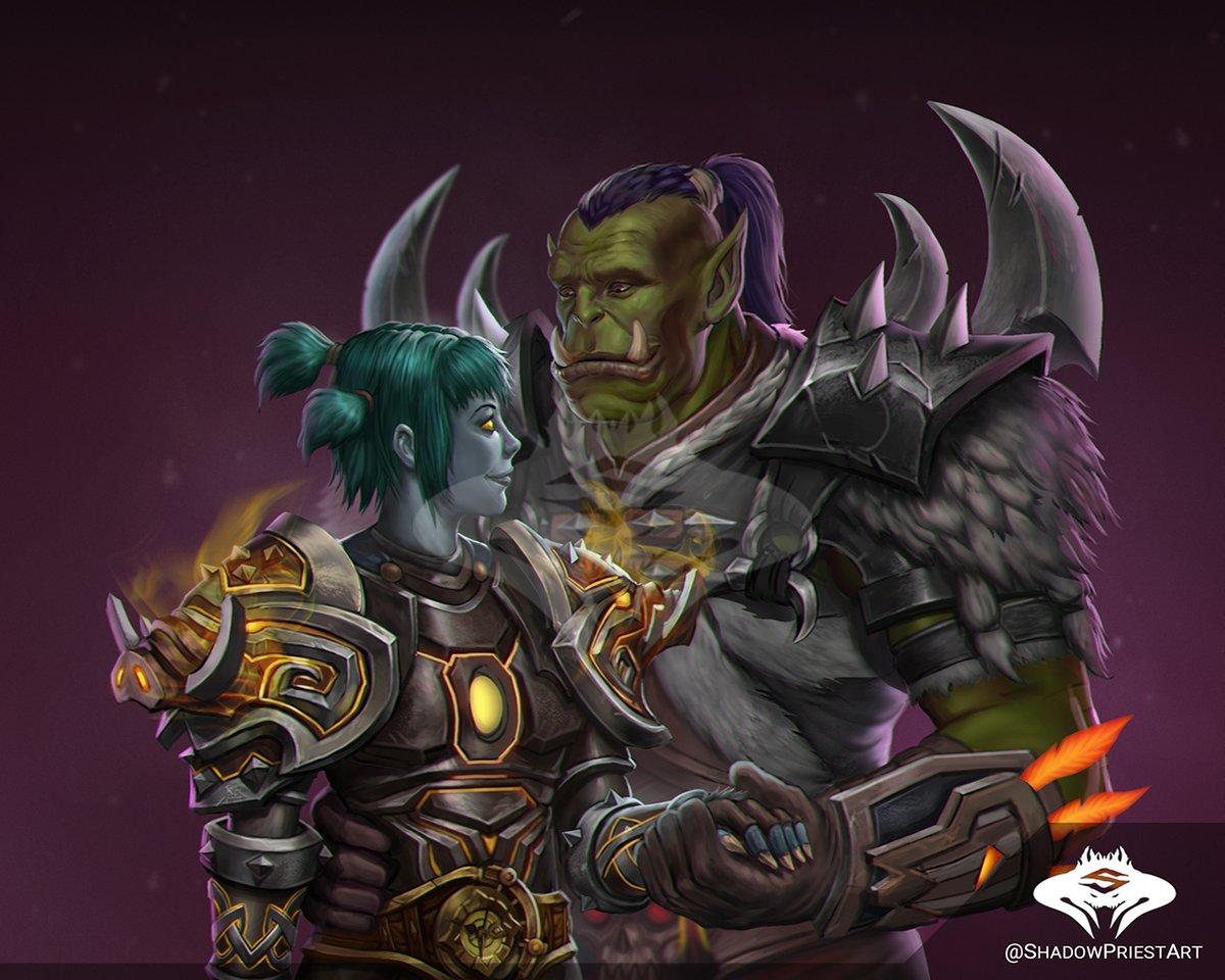 Shadowpriest On Twitter Commission Forsaken Orc Couple