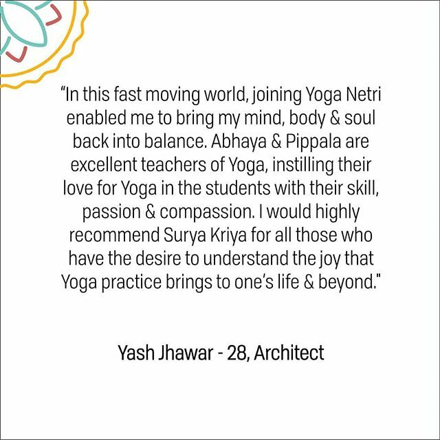Yash shares his experience of learning Hatha Yoga from our teacher @abhaya.g  If you wish to enrol for upcoming #yoga programs in #Pune, dm us with your details! . .  #coporateyoga #yoga #punehr #employeewellfare #internationaldayofyoga #internationalyogaday #IDY2019 #deskyo…pic.twitter.com/o4tSgt3oBn