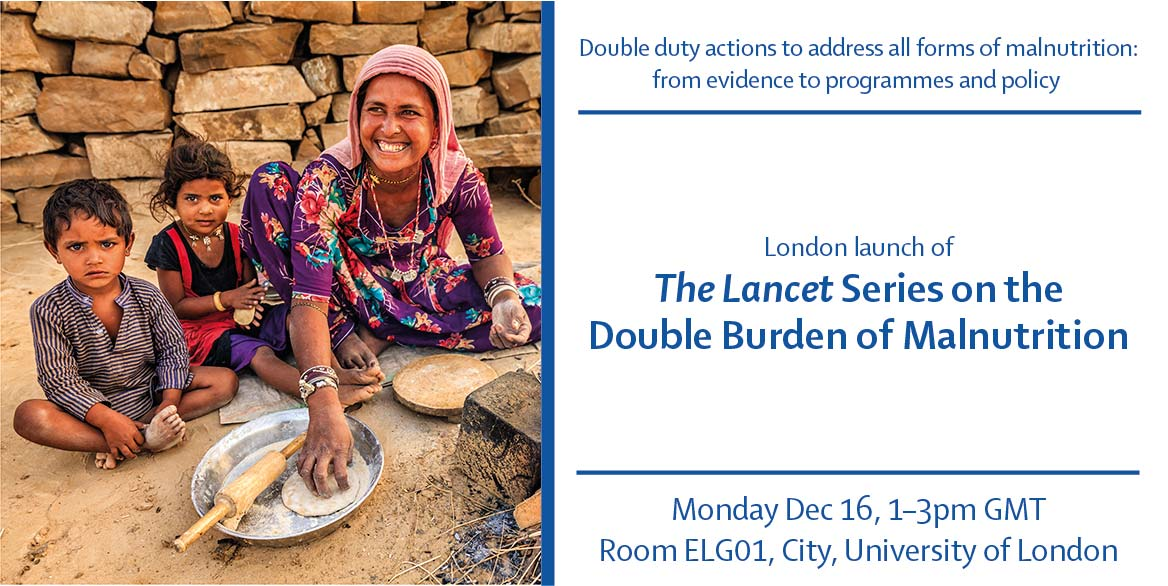 If you missed the London launch of @TheLancet Series on the Double Burden of Malnutrition, you can now watch it online tinyurl.com/u2g6lya Link at the bottom of the page. #NutritionDecade