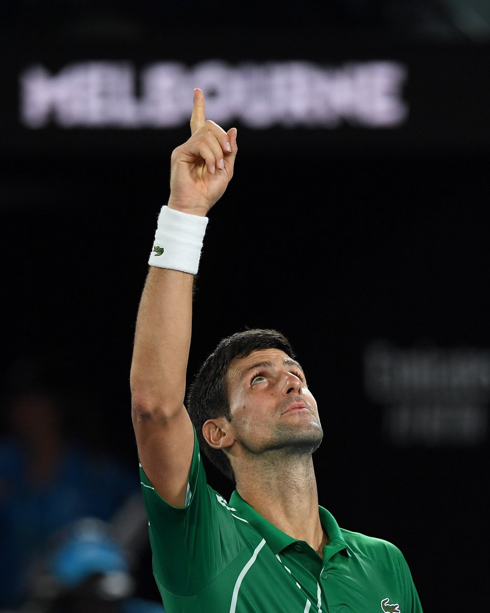 Novak Djokovic On Twitter Grateful To Be Here Grateful To Do This Grateful To Live This Grateful To Share This With You What A Journey See You Sunday 8thfinal Ao2020 Ausopen Https T Co 2yn3402bcb