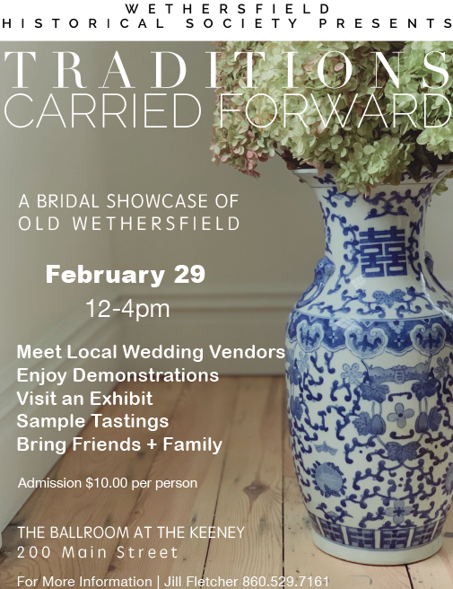 Do not miss... A Bridal Showcase of Old Wethersfield! February 29, 12-4pm. @wethhist   #bridal #bride #groom #weddings #food #flowers #showcase #expo #vendors #OldWethersfield #WeddingsInWetherfield #histroicdistrict #colonial #history #HistroicWethersfield #wethersfieldCTpic.twitter.com/q6OobalCsw