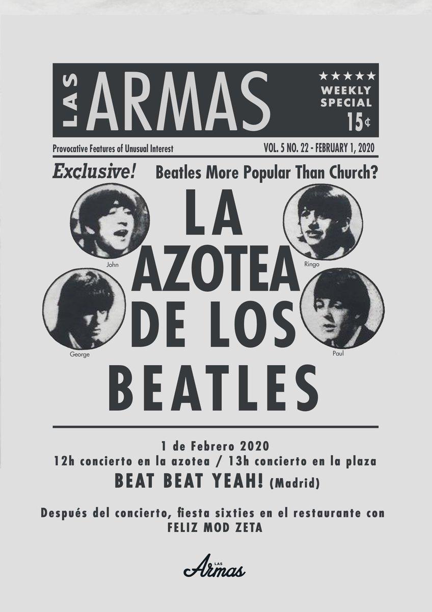 El sábado La Azotea de Los Beatles a partir de las 12:00h. ¡¡Buenos conciertos y rico vermut!! https://t.co/fbzR5LGuR0