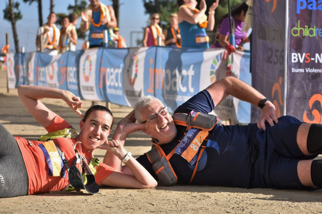 #ThrowbackThursday I think you guys deserved a lie down after that! #Running #marathontraining