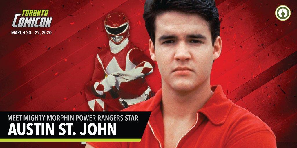 Fanexpo Canada On Twitter Power Rangers Unite Red Ranger Austin St John Is Coming Meet The Mighty Morphin Power Rangers Leader At Torontocomicon Get Your Tickets Today Https T Co Kk2ladqkgu Https T Co Ksunronzhn