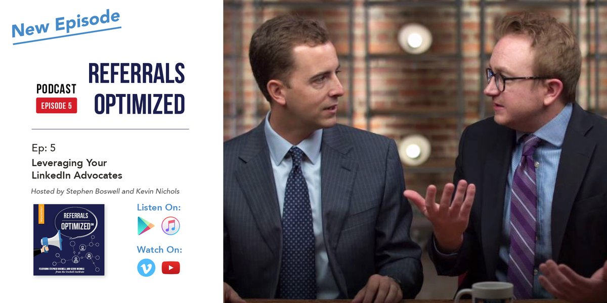 Use @LinkedIn to grow your business. Learn how in the latest episode of #ReferralsOptimized: https://t.co/kl2BLf6ULc @StephenBoswell @KevinANichols https://t.co/hdSP6i3fPh