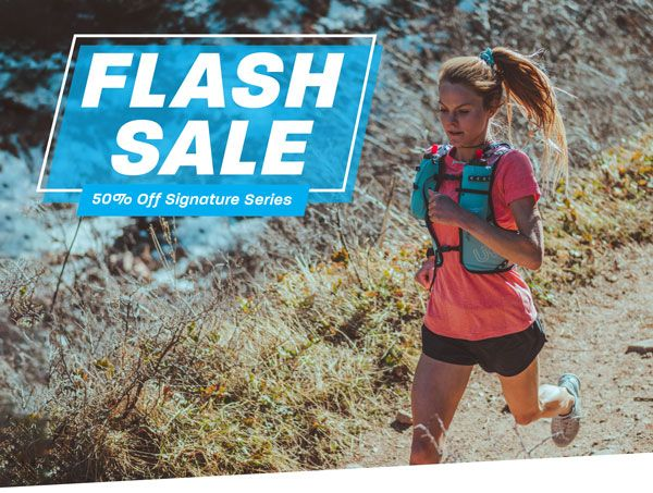 For a limited time, save 50% on select Signature Series vests! ultimatedirection.com