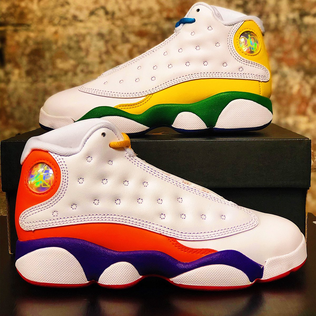 Air Jordan 13 Playground GS & Kids sizes release today @NBAStore NYC!