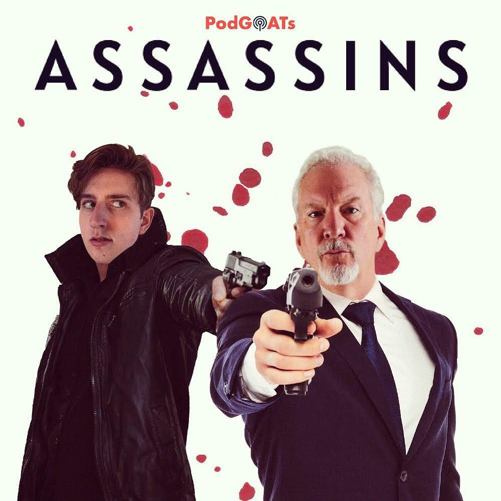 Trust no one. Latest episode ASSASSINS is available now! Listen at Podgoats.com/assassins