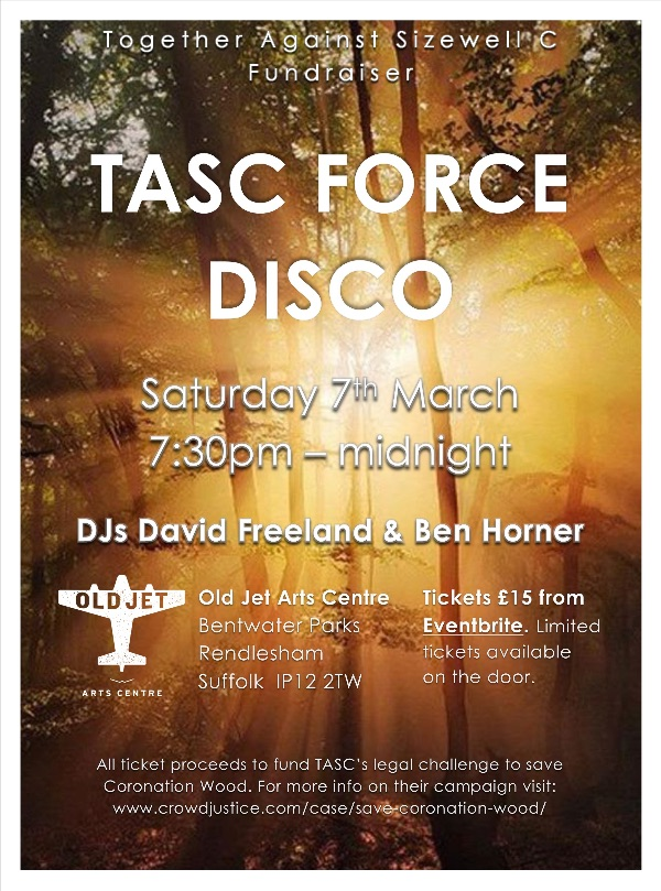Many thanks @HECKTERMANNK for your generous financial support of our @CrowdJustice campaign to protect Coronation Wood & Pillbox Field in @SuffolkAONB from unnecessary destruction by EDF, & for your involvement in & promotion of the fund-raiser Disco on 7th March@SayNo2SizewellC